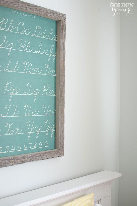 DIY framed wall art for kids