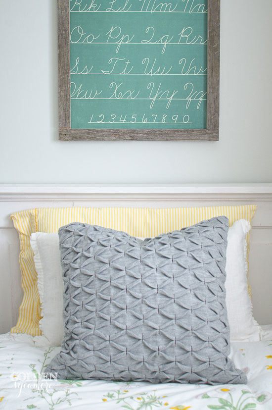 Framed faux chalkboard wall art