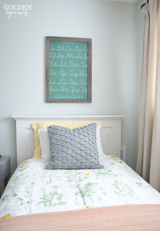 Framed wrapping paper wall art idea