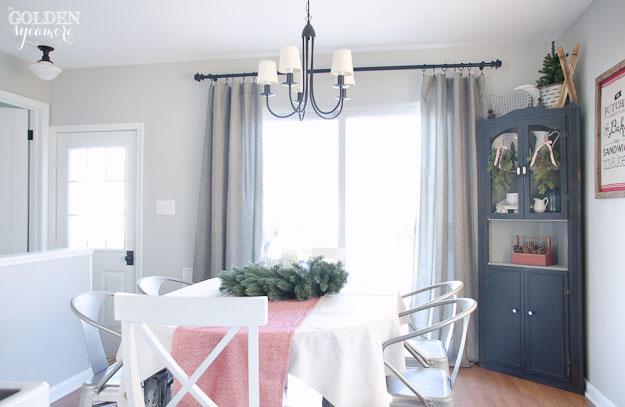 Grey Prospect + Vine tweed curtains