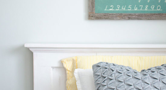 Easy Kids' Chalkboard Wall Art Idea