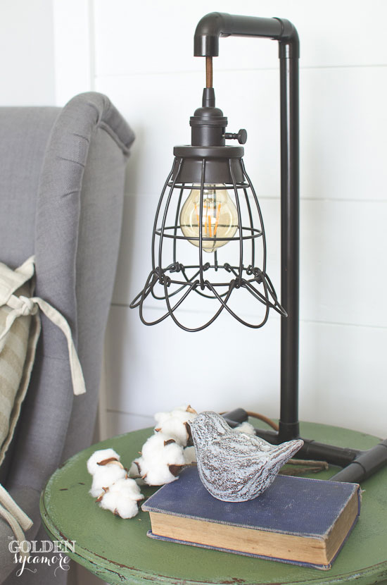 Pretty feminine industrial lamp