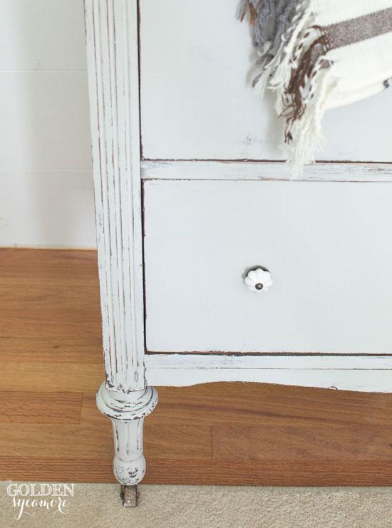 Silver Mink dresser makeover