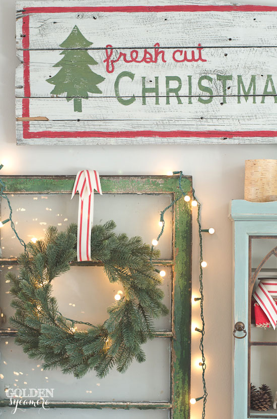 Fresh Cut Christmas Trees sign decor