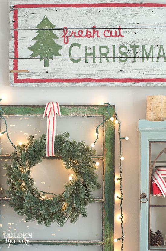 Fresh Cut Christmas Trees sign decor
