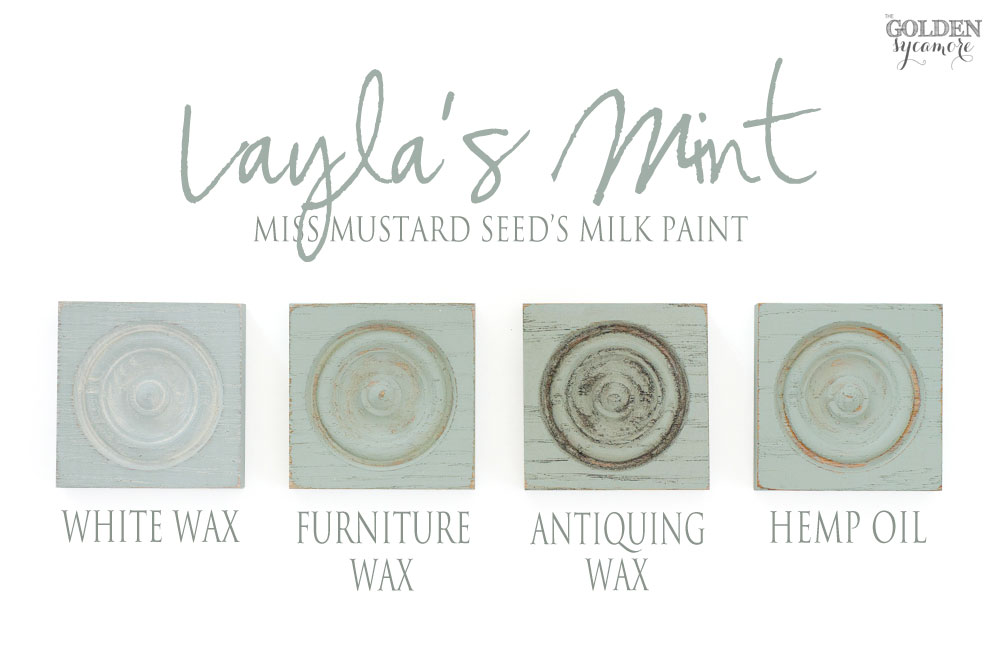 Miss Mustard Seed's Milk Paint European colors & finishes - Layla's Mint