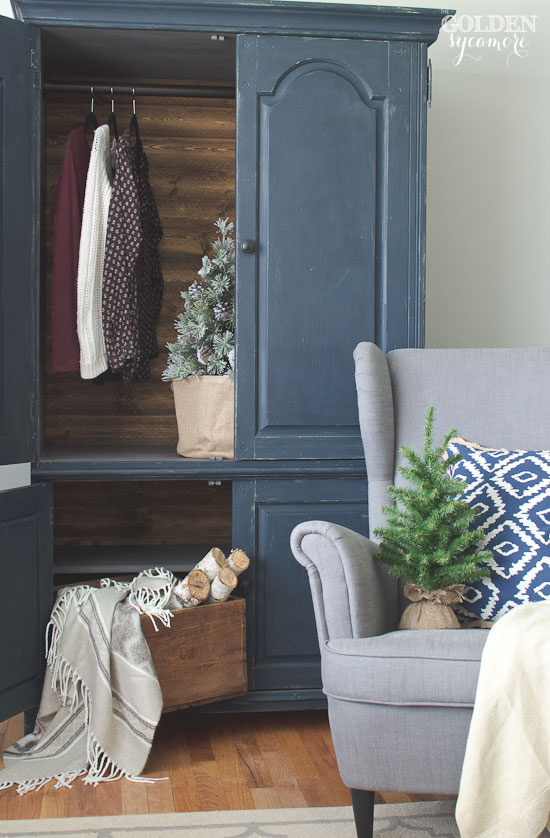 Beautiful armoire makeover