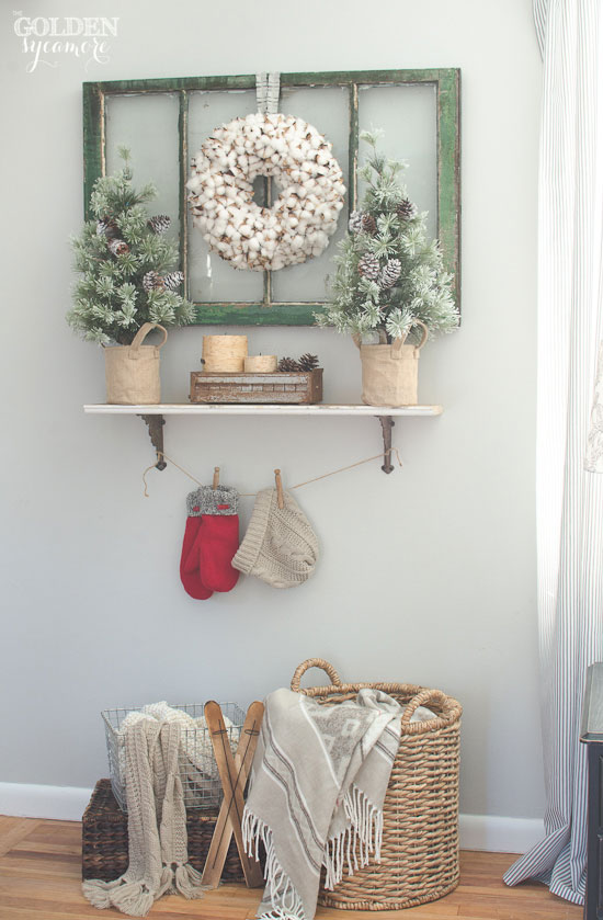 Cozy winter farmhouse style