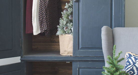 Rustic Armoire Makeover