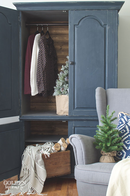 Gorgeous hand painted armoire makeover