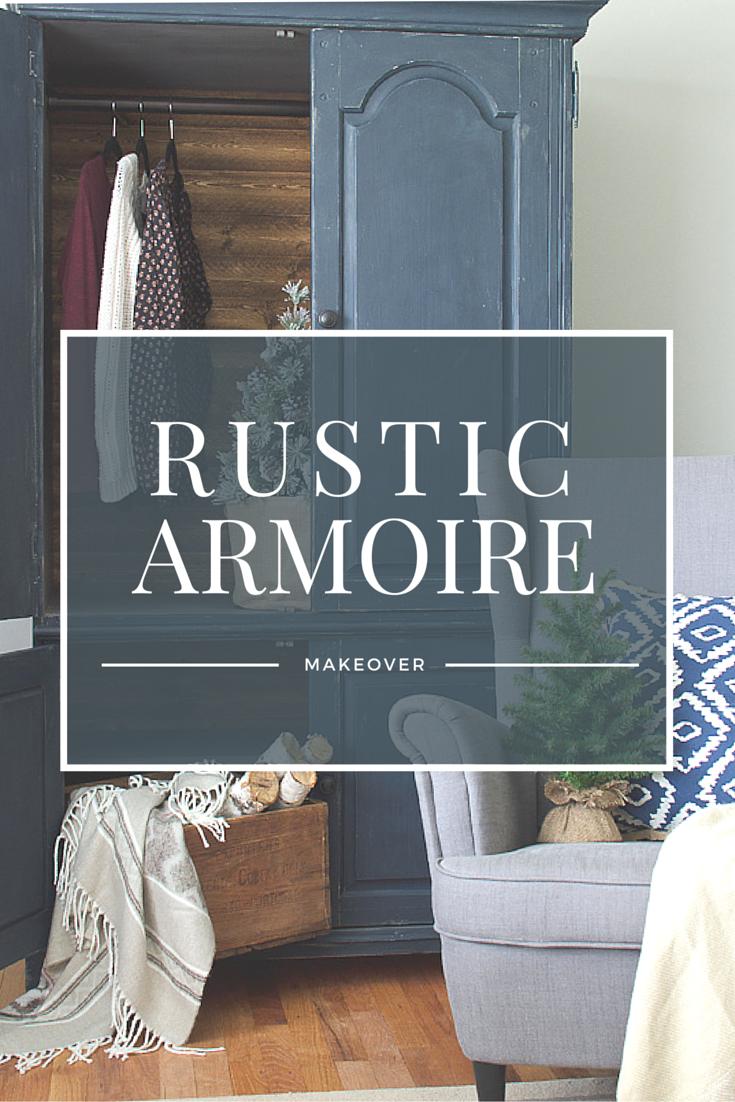 Rustic armoire makeover via thegoldensycamore.com