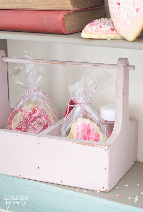 Pink Valentine's cookie station