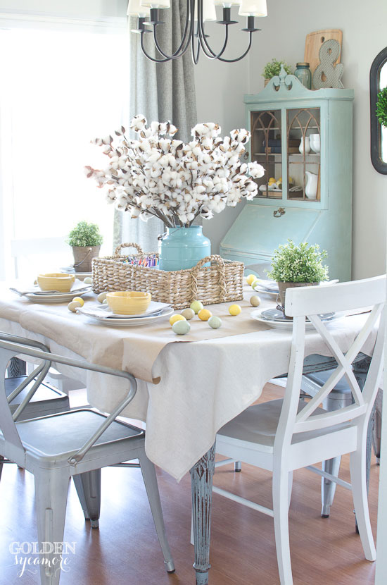 Colorful spring dining table