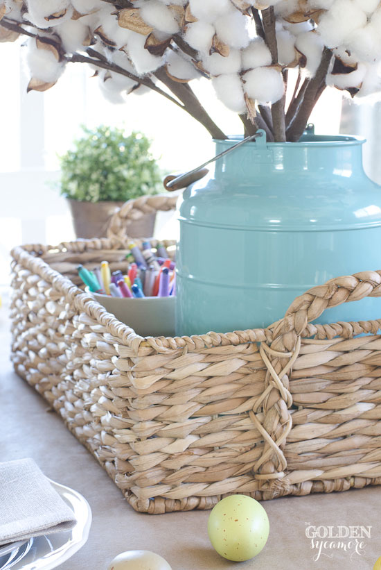 Functional spring centerpiece for kids