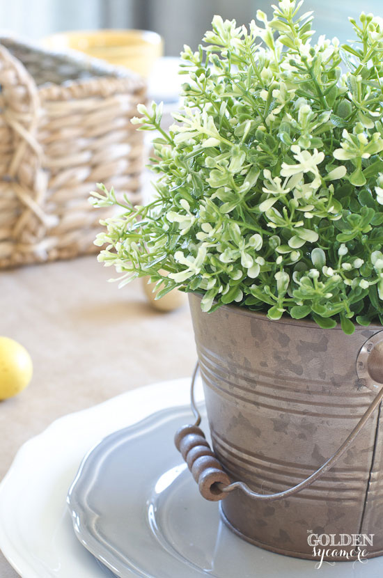 Neutral spring dining table