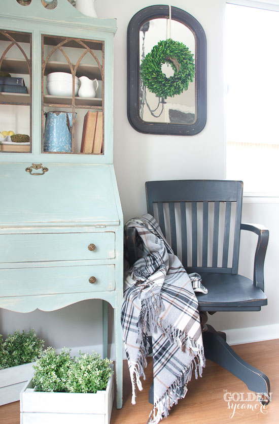 Vintage Office Chair Makeoverin the Kitchen The Golden Sycamore