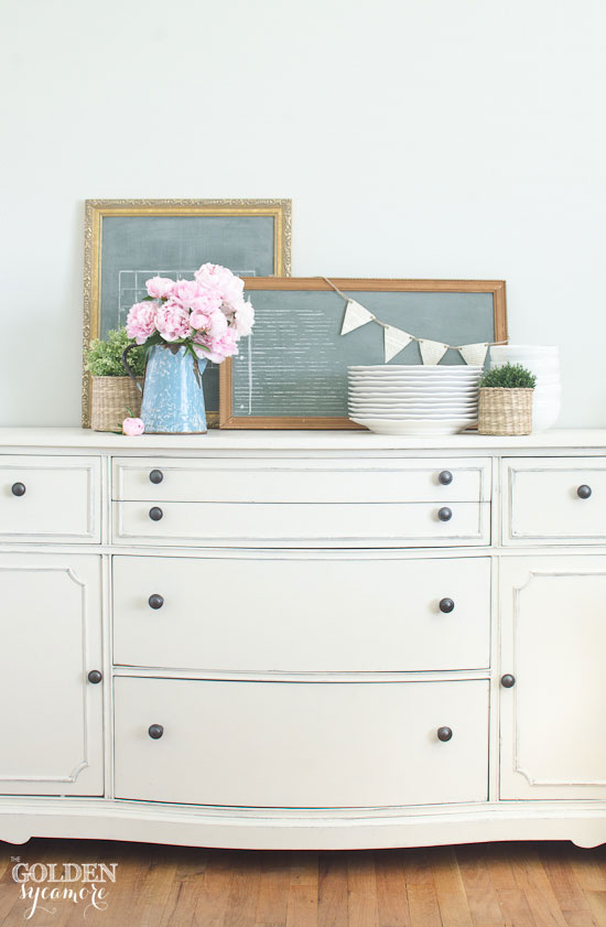Cream buffet makeover