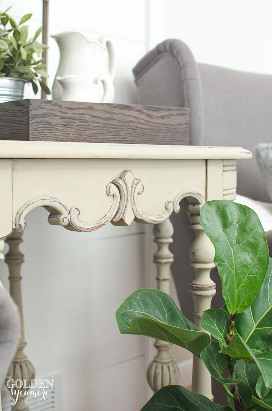 Beautiful detailed painted side table