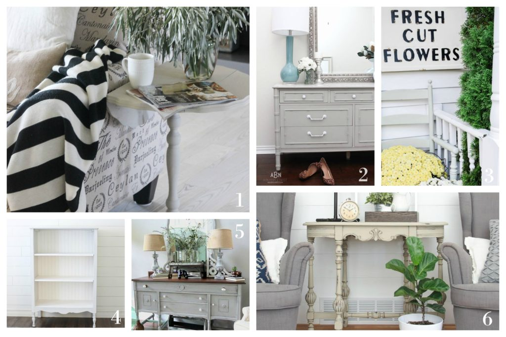 Maison Blanche Paint Company Vintage Painted Furniture Makeovers - Projects and Ideas