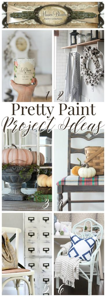 Pretty Home DIY Projects - Furniture Paint Makeover Ideas with Maison Blanche Paint Co products