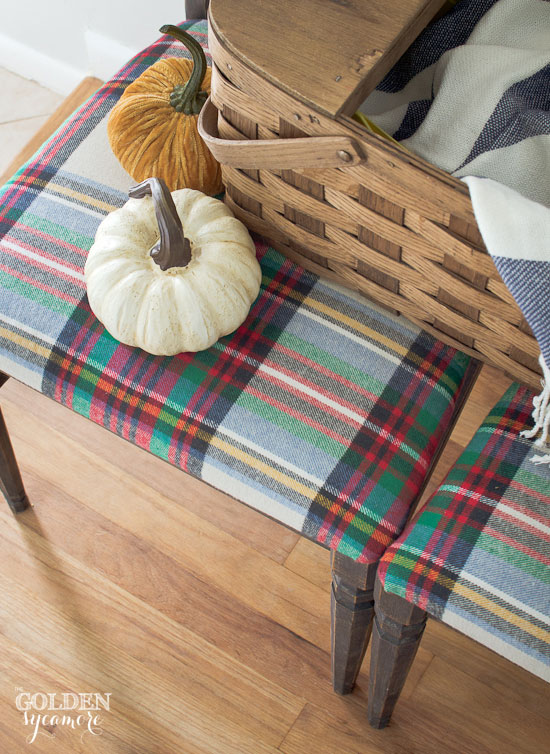 Fall plaid chairs