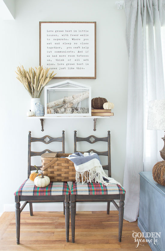 Neutral small home fall entryway
