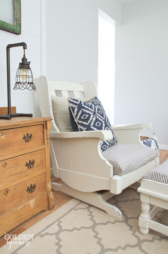 Vintage Ethan Allen chair makeover