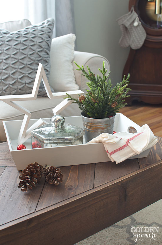 Coffee Table Tray Makeover - The Golden Sycamore