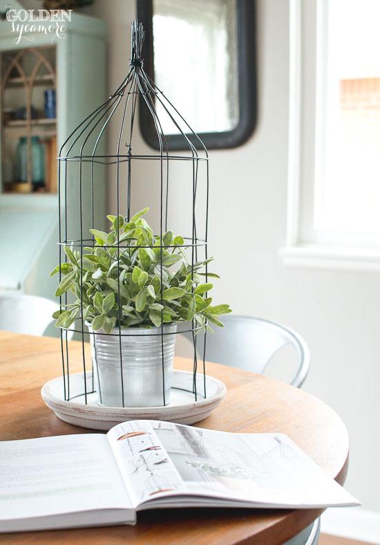 Super easy handmade wire cloche