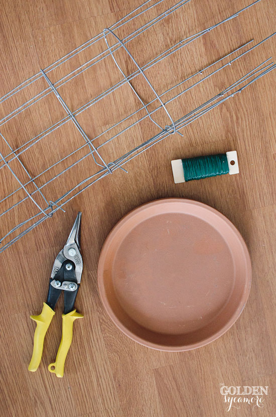 Wire cloche tools and supplies