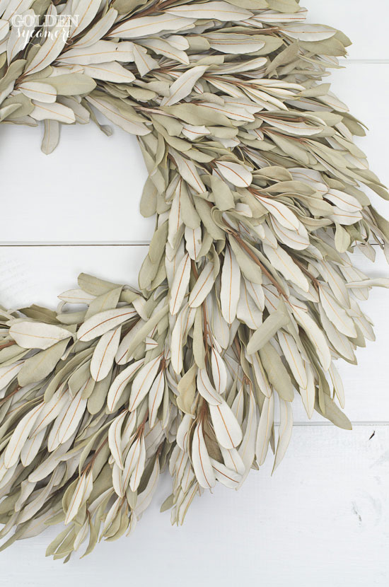 beautiful large dried sage wreath