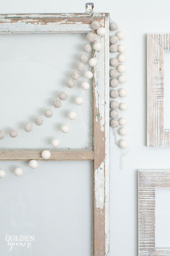 neutral white gallery wall