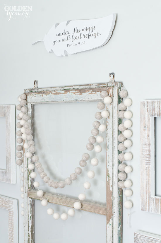 open frame white neutral gallery wall