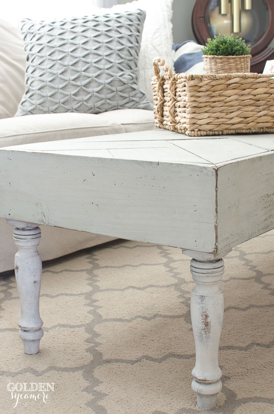 Cozy cottage style custom built coffee table